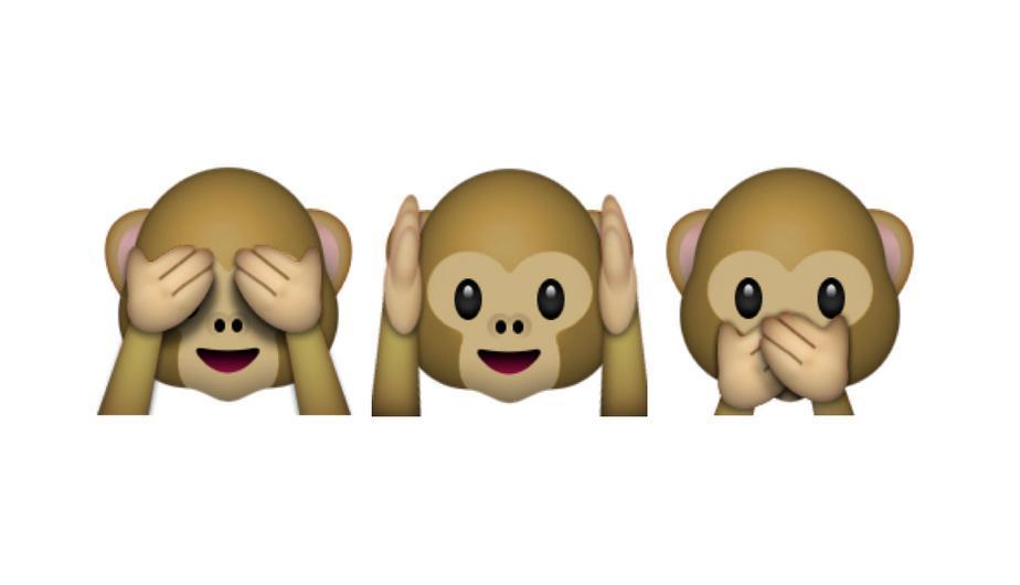 """Los tres monos ilustran el proverbio japonés """"No ver el mal, no oír el mal, no hablar el mal"""". (Foto: Captura)"""