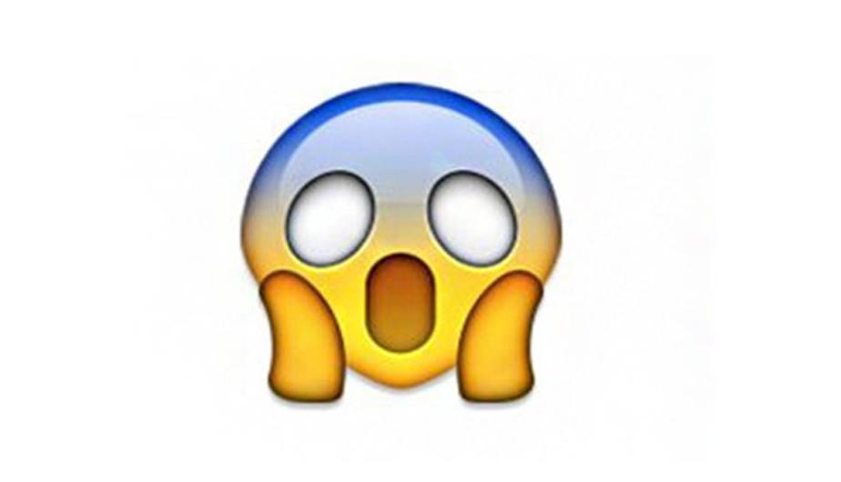 """Este emoji con las manos en las mejillas parodia a """"El grito"""", la pintura de Edvard Munch. (Foto: Captura)"""