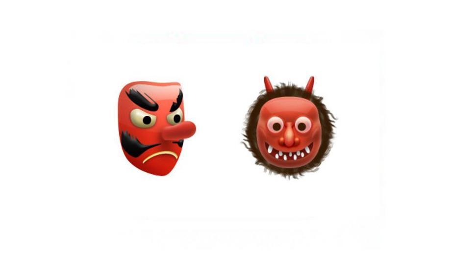 Este emoji es un ogro japonés llamado Namahage que, según la leyenda, se lleva a los niños que se portan mal. (Foto: Captura)