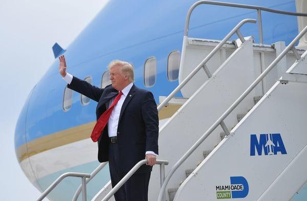 Así llegaba Donald Trump a Miami