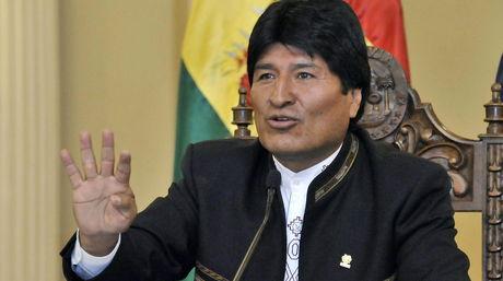 Resultado de imagen de El presidente de Bolivia, Evo Morales,