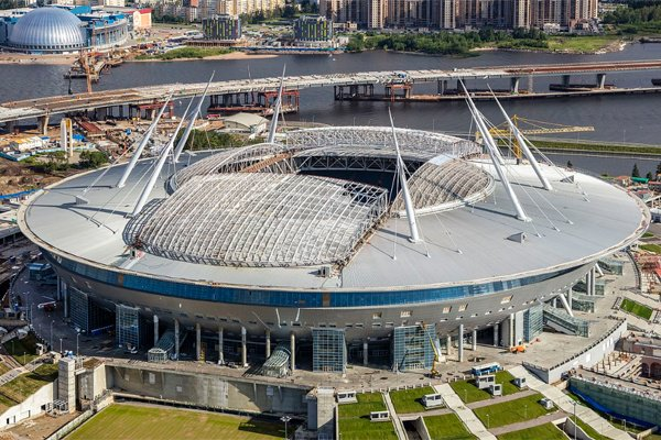 Estadio Krestovski de San Petersburgo, sede de la final