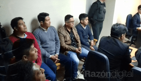 Audiencia de los 9 detenidos en Chile