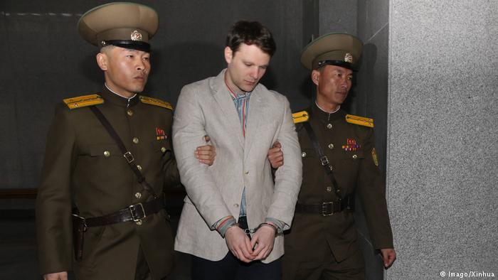 Nordkorea Freilassung US-Student Otto Warmbier (Imago/Xinhua)