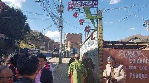 Operativo de la Gobernación de La Paz y la Policía Turística en el motel Fantasía,