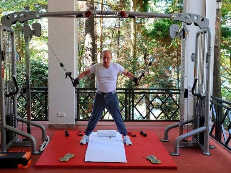 Putin tiene un gimnasio personal completamente equipado