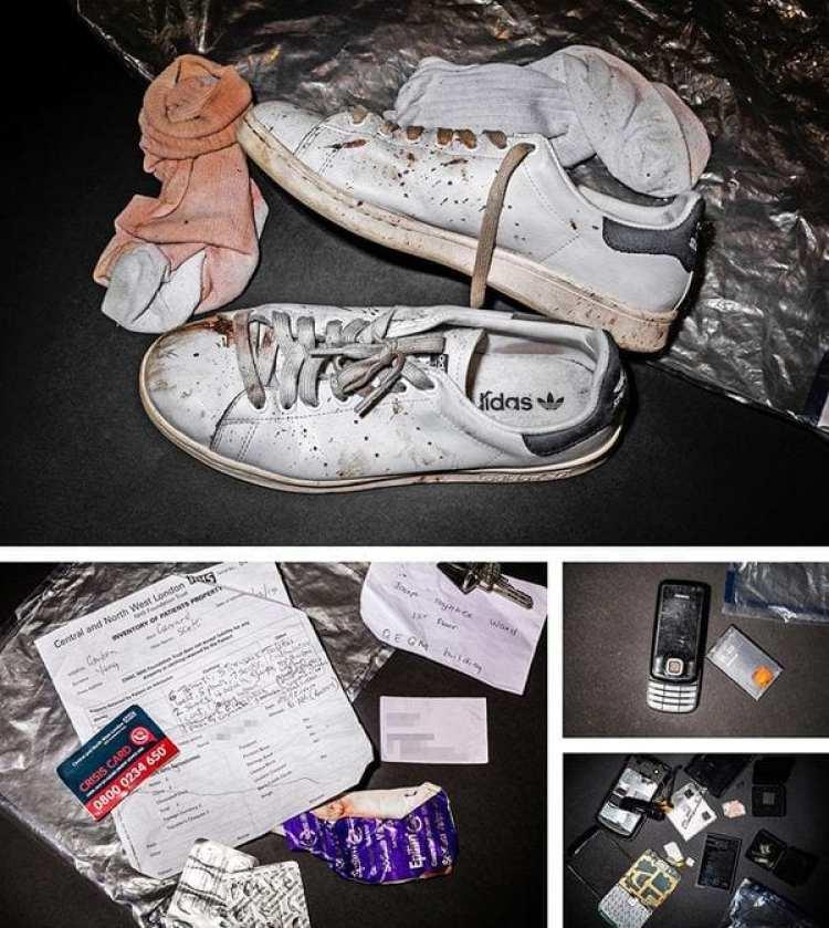 Objetos encontrados en la escena de la muerte de Scot Young