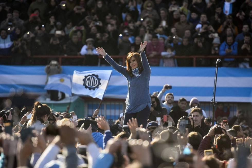 Cristina Kirchner presenta su lista Unidad Ciudadana, el 20 de junio pasado.
