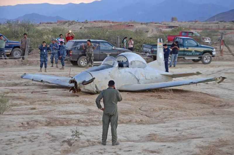 Cae una aeronave en Tarija sin consecuencias graves