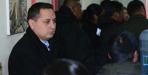 Guillermo Achá durante su audiencia de medidas cautelares. Foto: La Razón
