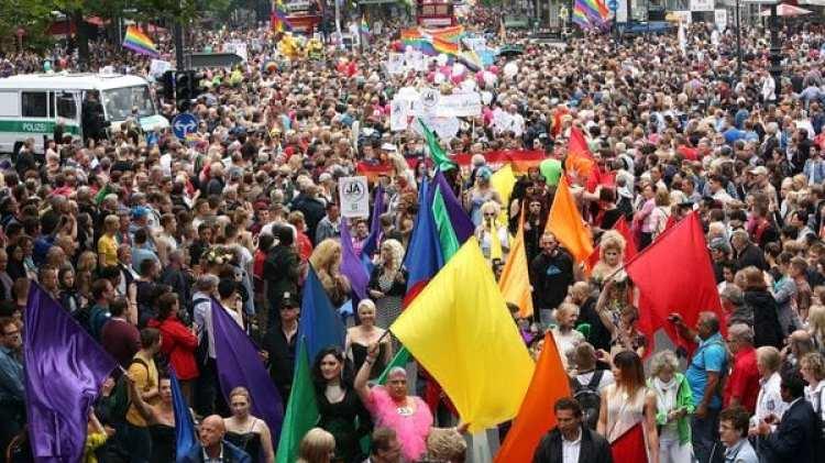 Manifestación homosexual en Alemania (AFP)