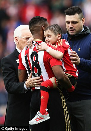 His best known supporter is footballer Jermain Defoe, for whom he has been a mascot at Sunderland and England matches