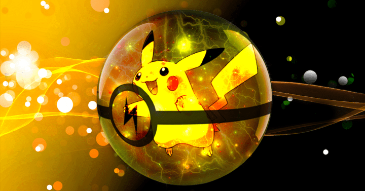 pikachu en pokeball