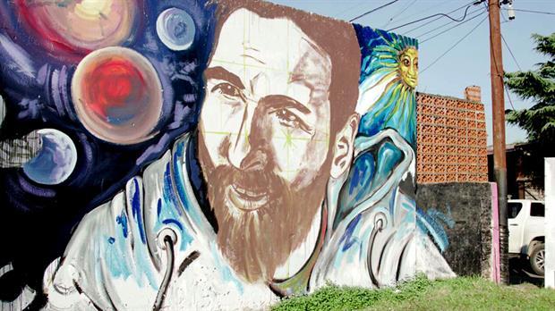 Se estrena mural de Lio Messi en Rosario