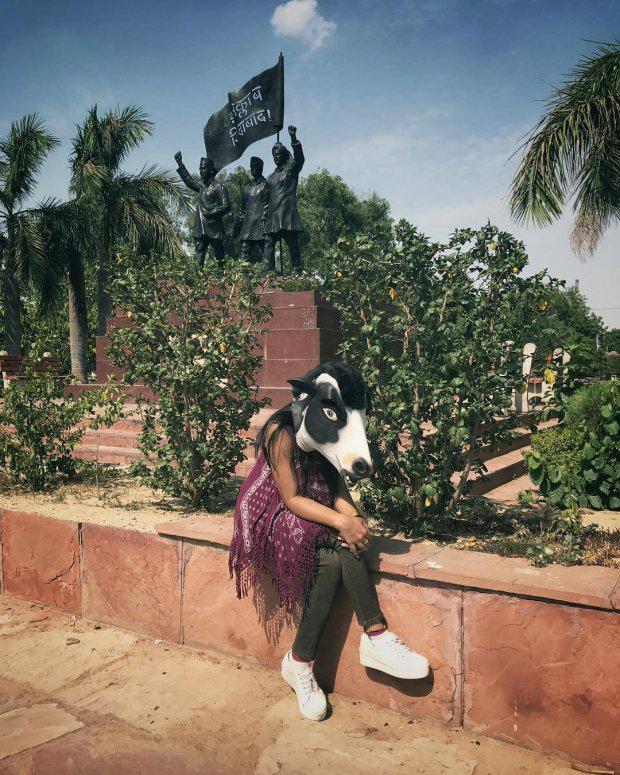 fotos vacas mujeres india2