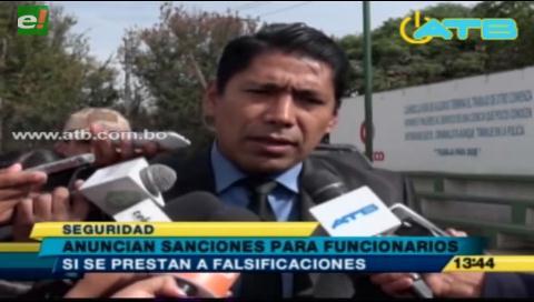 Sancionarán a funcionarios del Segip que estén involucrados en falsificaciones