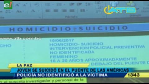 Joven se suicidó desde el Puente de la Américas en La Paz