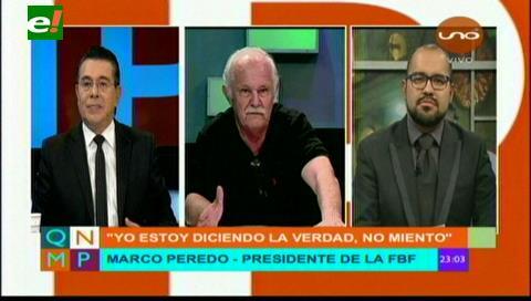 Marco Peredo reta a un debate a los que denunció y anuncia que viene el tema de los árbitros