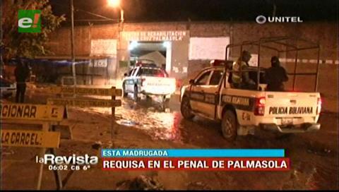 """Policía realizó requisa en Palmasola tras denuncias de """"lujos"""""""