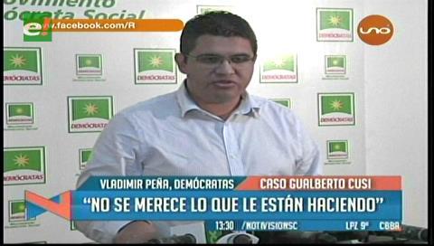 Peña lamenta la discrimación que sufre Cusi por parte del Gobierno