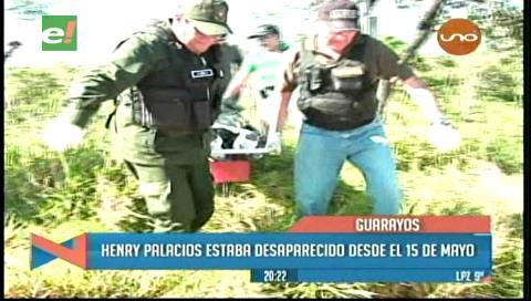 Desaparecido en Guarayos: Hallan su cadáver en un sembradío de marihuana