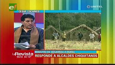 Asentamientos ilegales: Cocarico critica a alcaldes pero acepta que hay problemas en comunidades
