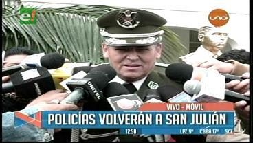 Policía decide retornar a San Julián con nuevo comandante