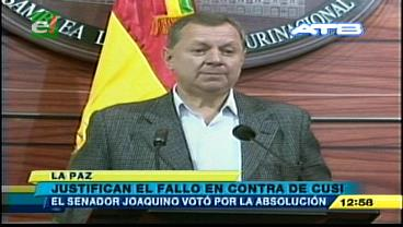 Gobierno justifica la sentencia condenatoria contra Gualberto Cusi