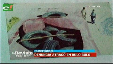 Chofer denuncia el robo de mercadería de su camión por la zona de Bulo Bulo