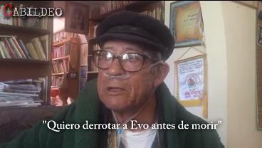 Última entrevista a Filemón Escobar en Cabildeo: «Quiero derrotar a Evo antes de morir»