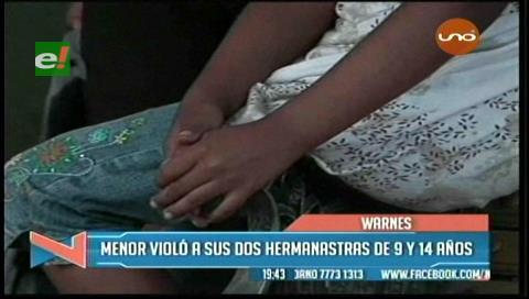Adolescente violó a sus dos hermanastras menores