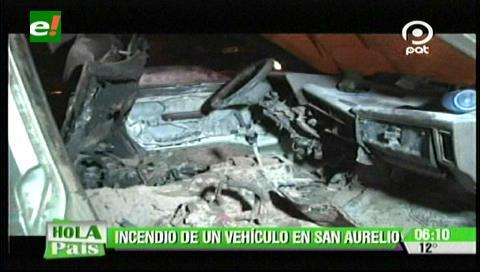 Vehículo se incendió en la avenida San Aurelio