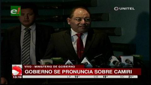 Ministro Romero cree que cívicos camireños buscan un muerto para agudizar conflicto