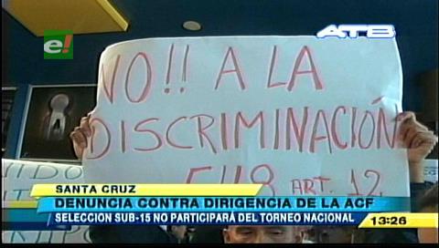 Denuncian a la ACF por discriminación