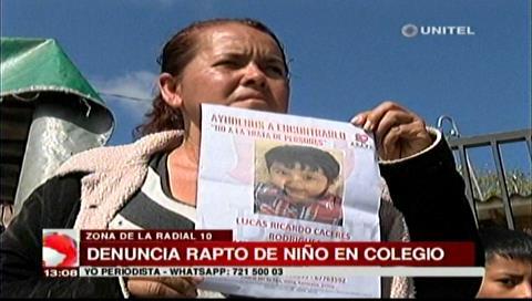 Abuela busca a su nieto raptado en el colegio