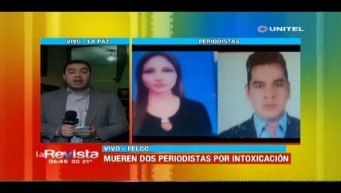 Dos periodistas fallecen en La Paz
