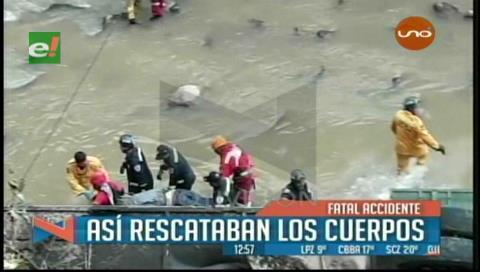 Santa Cruz: Así rescataron los cuerpos del accidente en la comunidad de Bermejo