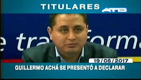 Video titulares de noticias de TV – Bolivia, noche del lunes 19 de junio de 2017