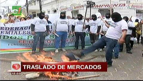 Gremiales protestaron por la falta de coordinación en el traslado de los mercados