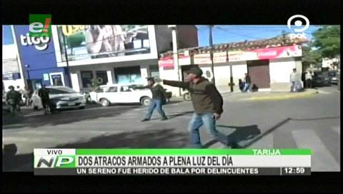 Tarija: Dos atracos a mano armada en plena luz del día