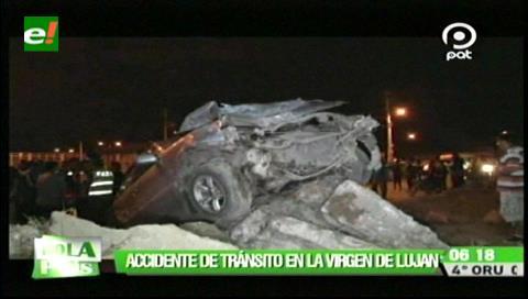Accidente deja dos heridos en la Virgen del Luján