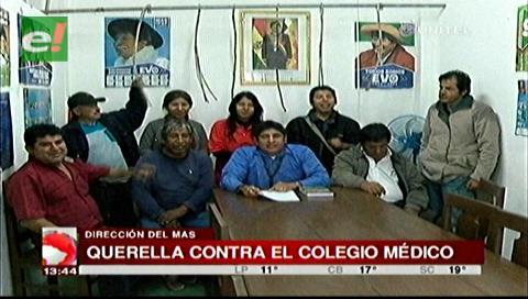 Santa Cruz: El MAS demandará al Colegio Médico por enriquecimiento ilícito