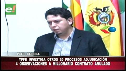 Presidente de YPFB pone a revisión 20 procesos de contratación