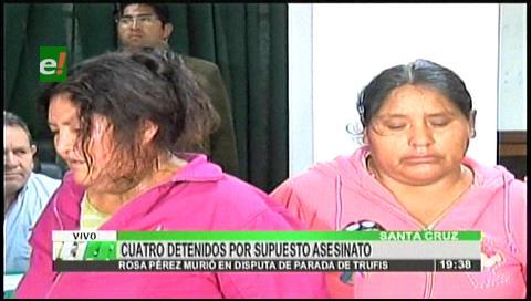 Detienen a 4 sospechosos del crimen de Rosa Pérez