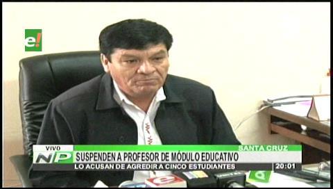 Suspenden a profesor por maltratar a sus estudiantes