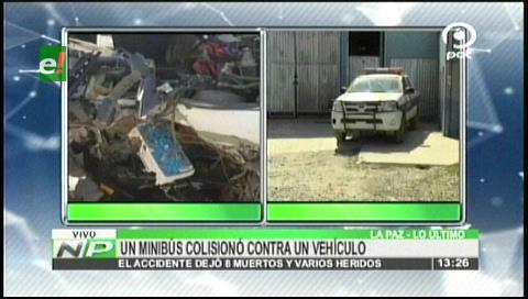 Confirman ocho fallecidos por colisión en la carretera La Paz- Desaguadero