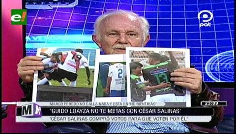Marco Peredo expone las imágenes de la corrupción en el fútbol boliviano