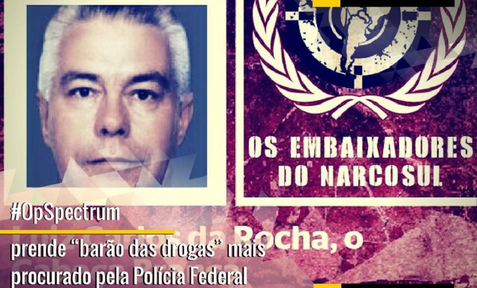 Imagen de Luiz Carlos da Rocha publicada en Twitter por la policía brasileña tras su detención.