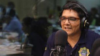 El capitán Cristian Sánchez en entrevista con EL DEBER Radio. Foto: Rolando Villegas