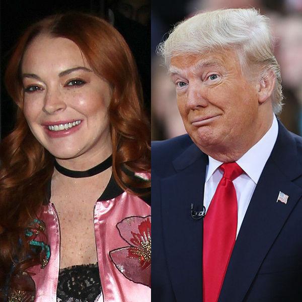 Lindsay Lohan, Donald Trump